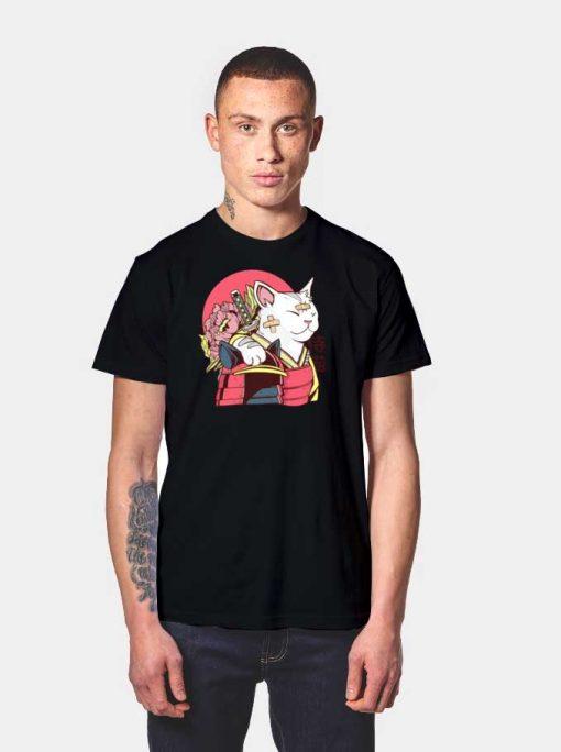 Japanese Cat Samurai Armor T Shirt