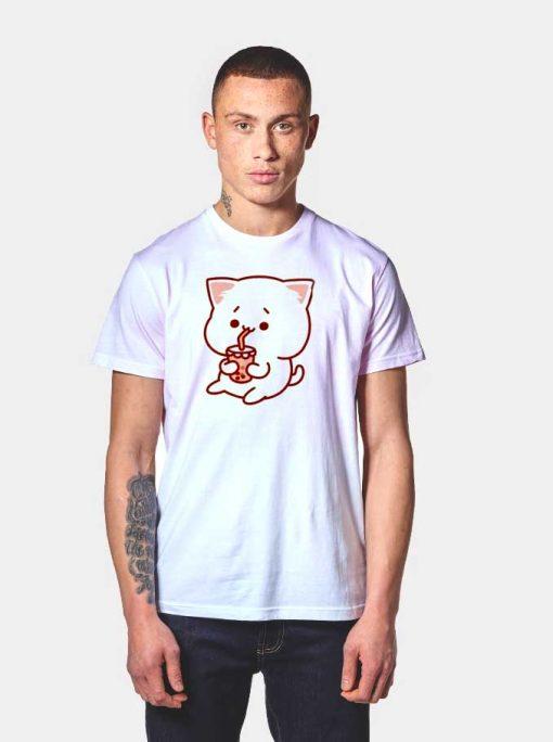 Kawaii Cat Drink Boba T Shirt