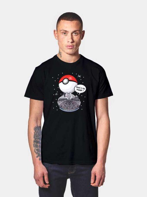 Millenium Falcon That's No Moon Pokeball T Shirt