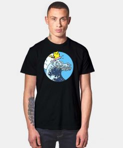 Pikachu Surfing Yellow Mouse Wave T Shirt