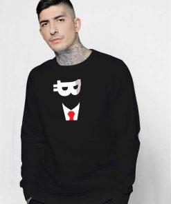 Satoshi Nakamoto Bitcoin Face Sweatshirt