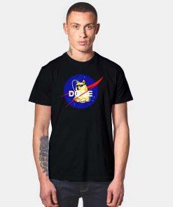 Space Doge Nasa Logo T Shirt
