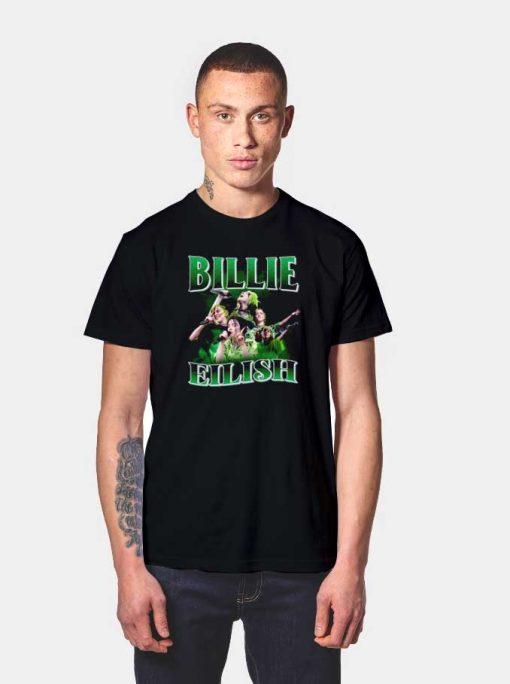 Billie Eilish Singing Logo T Shirt