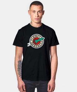 Distressed Planet Express Logo Rocket T Shirt