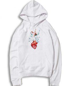 Pink Floyd Love Flowers Heart Hoodie