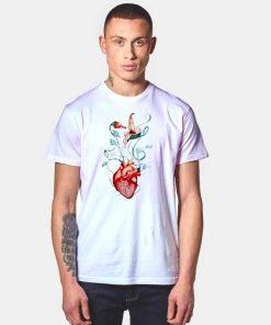 Pink Floyd Love Flowers Heart T Shirt
