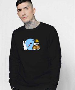 Raving Dalek Rabbids Robot Sweatshirt
