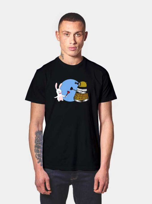 Raving Dalek Rabbids Robot T Shirt