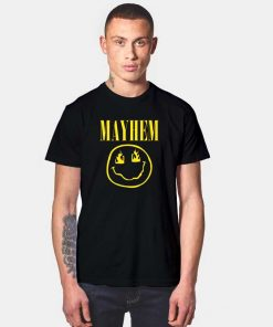 Mayhem Flaming Nirvana Logo T Shirt
