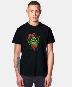 Slimer Thrashin Ghostbusters T Shirt