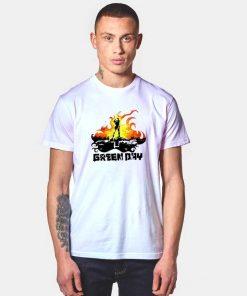 Burning Green Day Band T Shirt