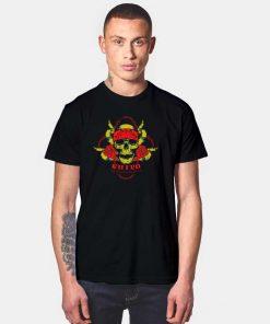 Killer Skull Red Flower T Shirt