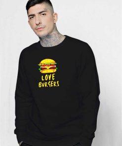 Cartoon I Love Burger Sweatshirt