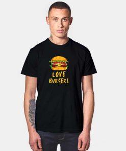 Cartoon I Love Burger T Shirt
