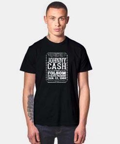 Johnny Cash at Folsom Prison T Shirt