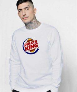 Pirate Burger King Straw Hat Logo Sweatshirt
